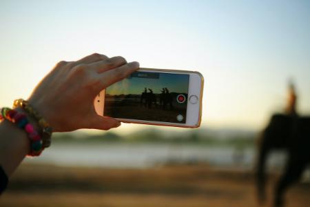 Phone Videoing Sunset